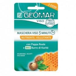 maschera viso 5 minuti - nutriente vellutante con burro di karité biologico e pappa reale 2 dosi da 15 ml