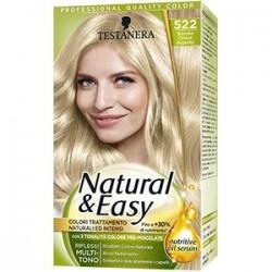 tinta per capelli colorazione permanente natural & easy n 522 biondo chiaro argento