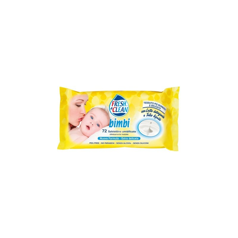 FRESH & CLEAN - Bimbi - 72 Salviettine umidificate