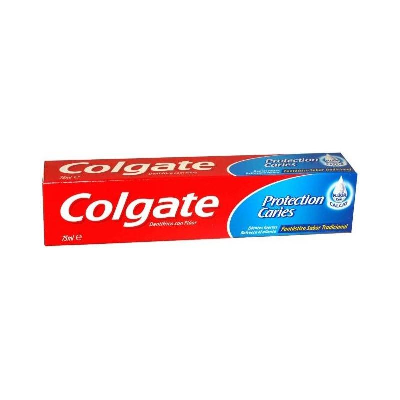 COLGATE - dentifricio protezione carie al fluoro attivo con calcio gusto fresco 75 ml