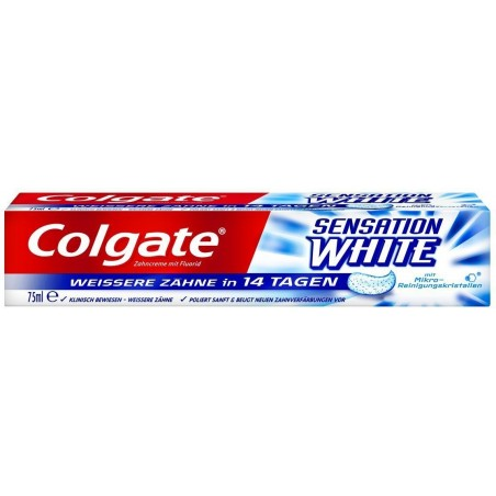 COLGATE - dentifricio sbiancante e antimacchie sensation white 75 ml