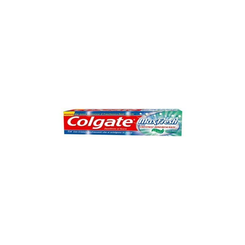 COLGATE - dentifricio max fresh al fluoro con cristalli rinfrescanti e menta glaciale 3 pezzi da 75ml