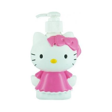 HELLO KITTY - bagnoschiuma + shampoo in 3d per bambina allo zucchero filato 250ml